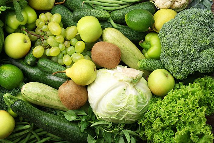 ประโยชน์ผักผลไม้สีเขียว